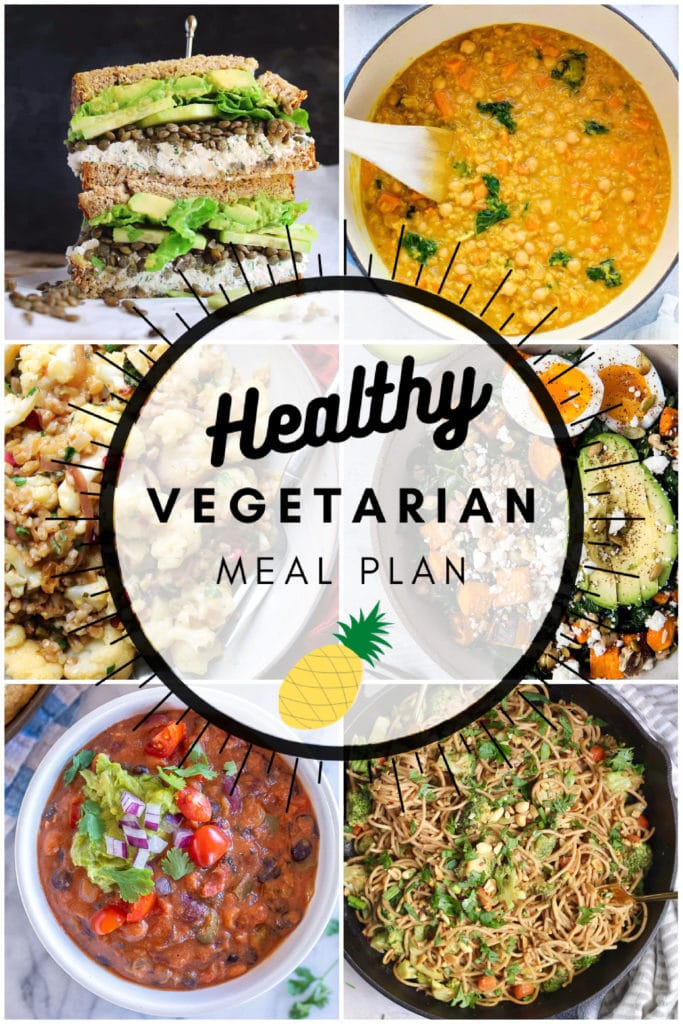 Healthy fall inspired vegetarian meal plan