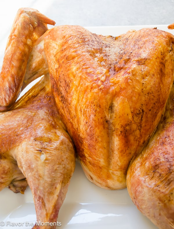 Perfect Spatchcook Turkey from Flavor the Moments - an easy spatchcock turkey recipe, giving you the most evenly cooked turkey in about an hour and a half!