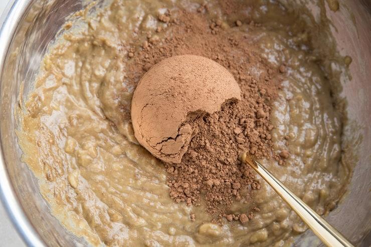 Stir in the cocoa powder