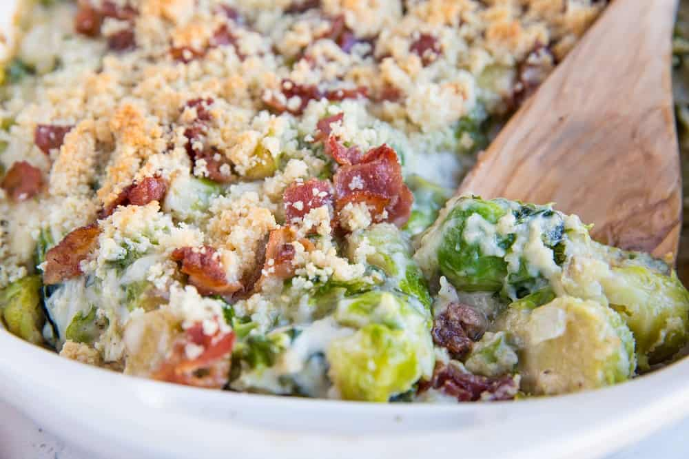 Brussels sprouts with cheese gratin