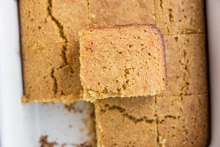 Gluten-Free Dairy-Free Cornbread with Honey - refined sugar-free, amazing delicious and moist cornbread!