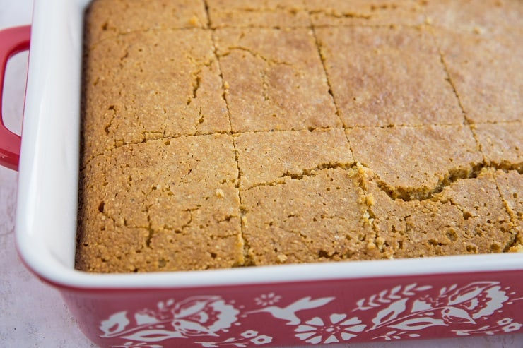 Gluten-Free Cornbread - dairy-free, refined sugar-free, healthier cornbread recipe
