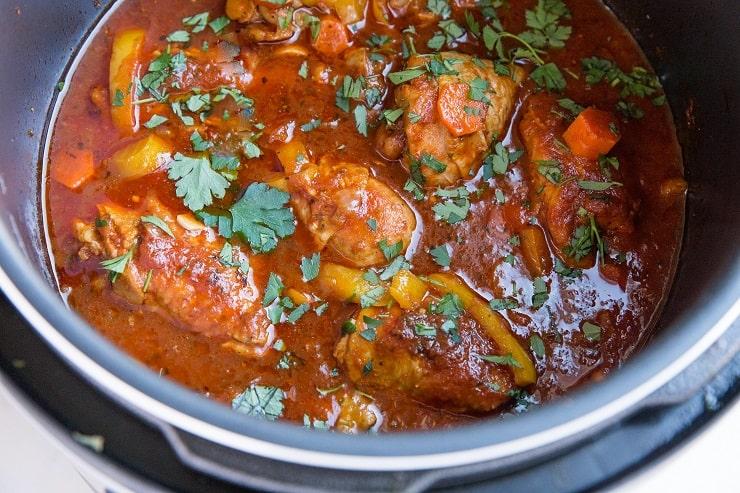 Pressure Cooker Chicken Cacciatore - an easy recipe for the Italian classic dish made in the pressure cooker