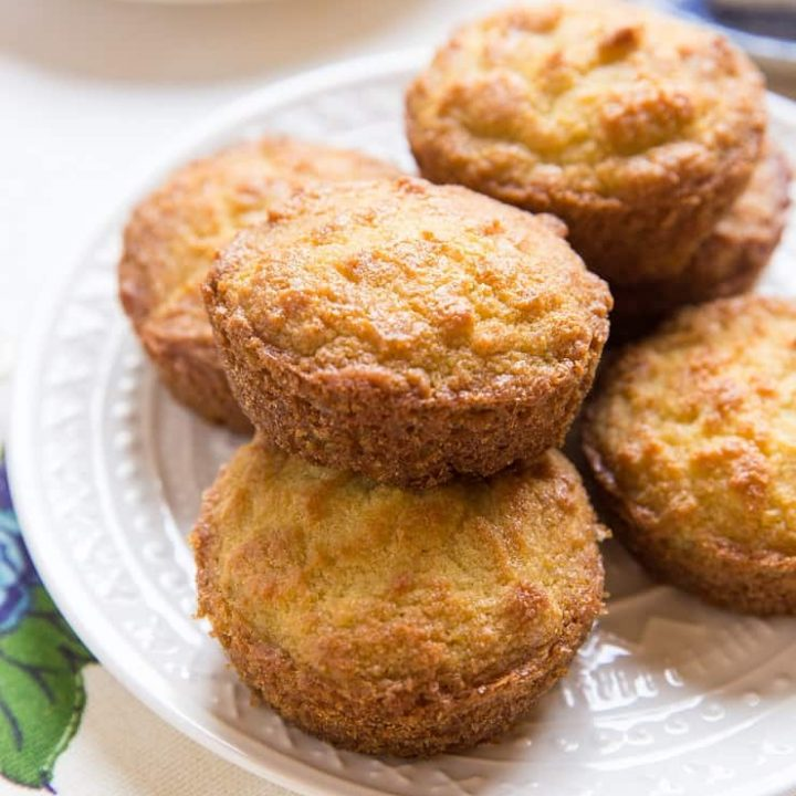 Grain-Free Keto Biscuits made with coconut flour - a nut-free, paleo, healthy biscuit recipe