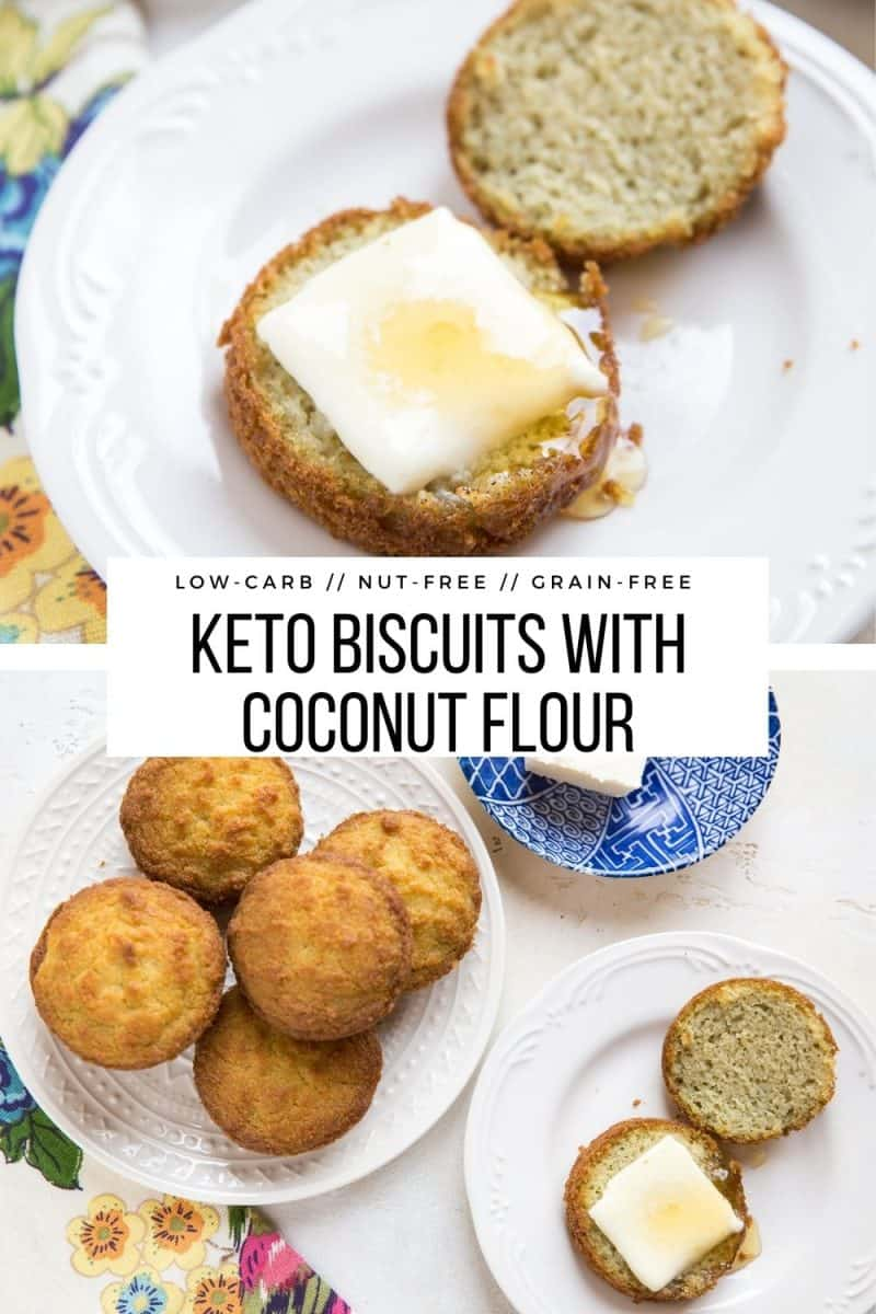 Grain-free Keto Biscuits with Coconut Flour - easy, tasty low-carb biscuit recipe
