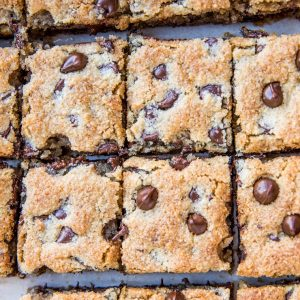 Keto Cookie Bars made with almond flour - grain-free, sugar-free low-carb dessert recipe!