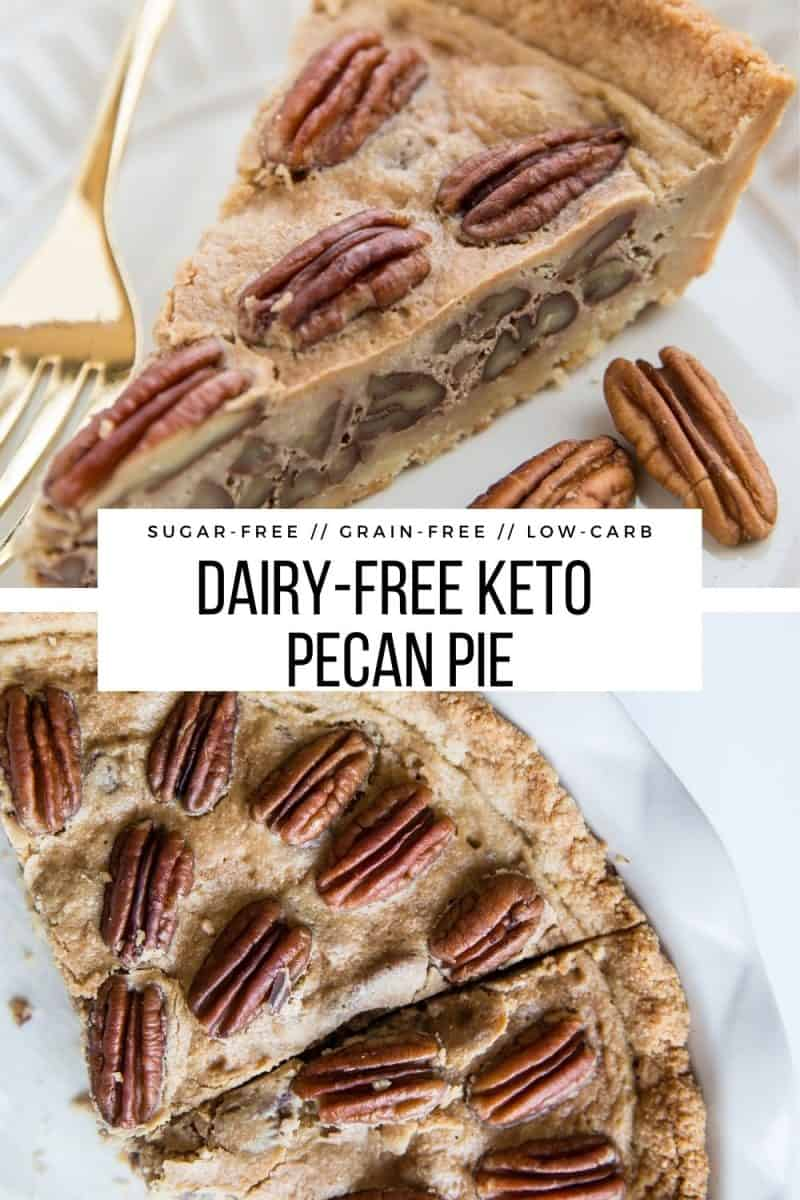 Keto Pecan Pie - dairy-free, sugar-free, grain-free, delicious low-carb pecan pie recipe! This amazing pie is perfect for sharing with friends and family