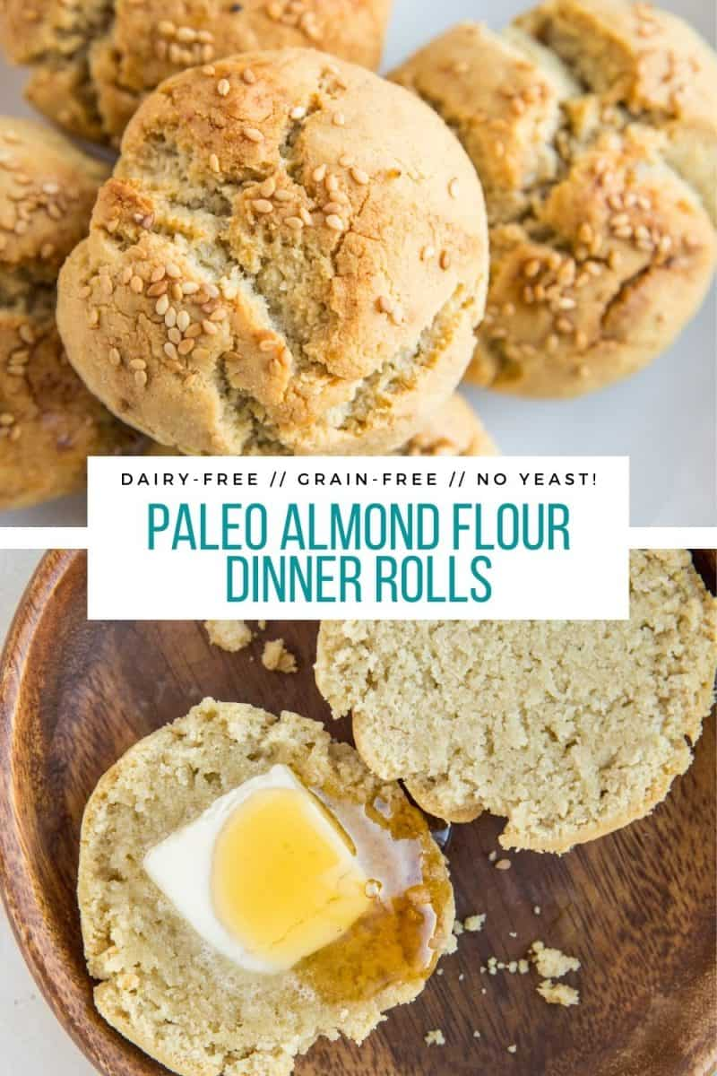 Paleo Almond Flour Dinner Rolls - grain-free, dairy-free, perfectly fluffy with a lovely crisp on the outside. No yeast or baking experience necessary!