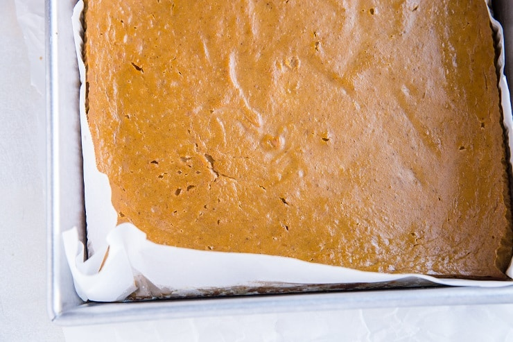 Paleo Pumpkin Pie Bars fresh out of the oven