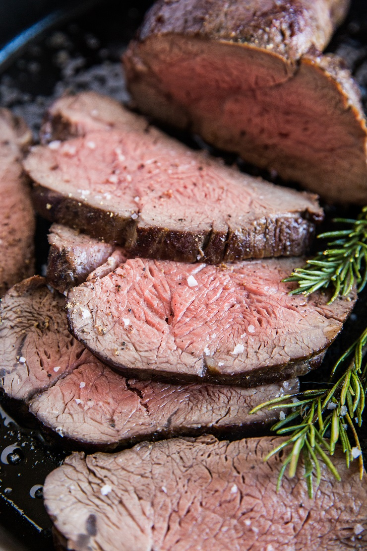Easy Beef Tenderloin Recipe - oven-roasted tenderloin made with basic ingredients