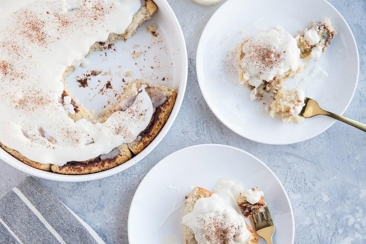 Dairy-Free Gluten-Free Cinnamon Rolls with easy frosting - a healthier cinnamon roll recipe