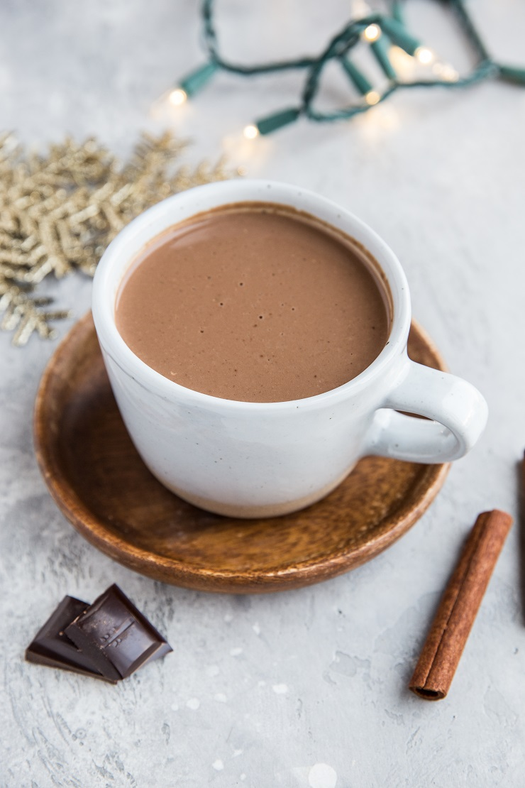Healthy Hot Chocolate Recipe (dairy-free, sugar-free, paleo, keto, vegan)