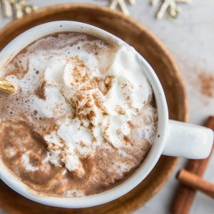 Keto Hot Chocolate Recipe (with a paleo option) - dairy-free, sugar-free, low-carb hot cocoa