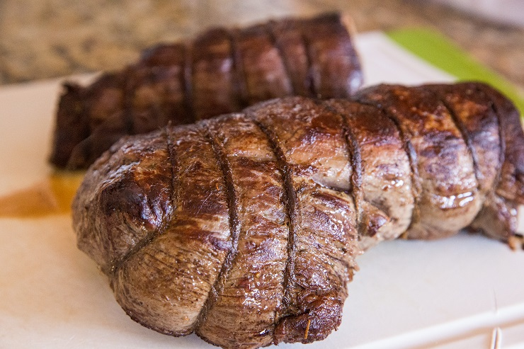 Allow beef tenderloin to rest before slicing and serving