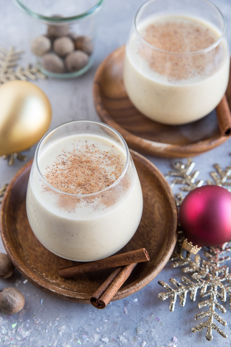 Keto Eggnog (Dairy-Free) - low-carb dairy-free eggnog recipe made with coconut milk - a healthier version of the classic