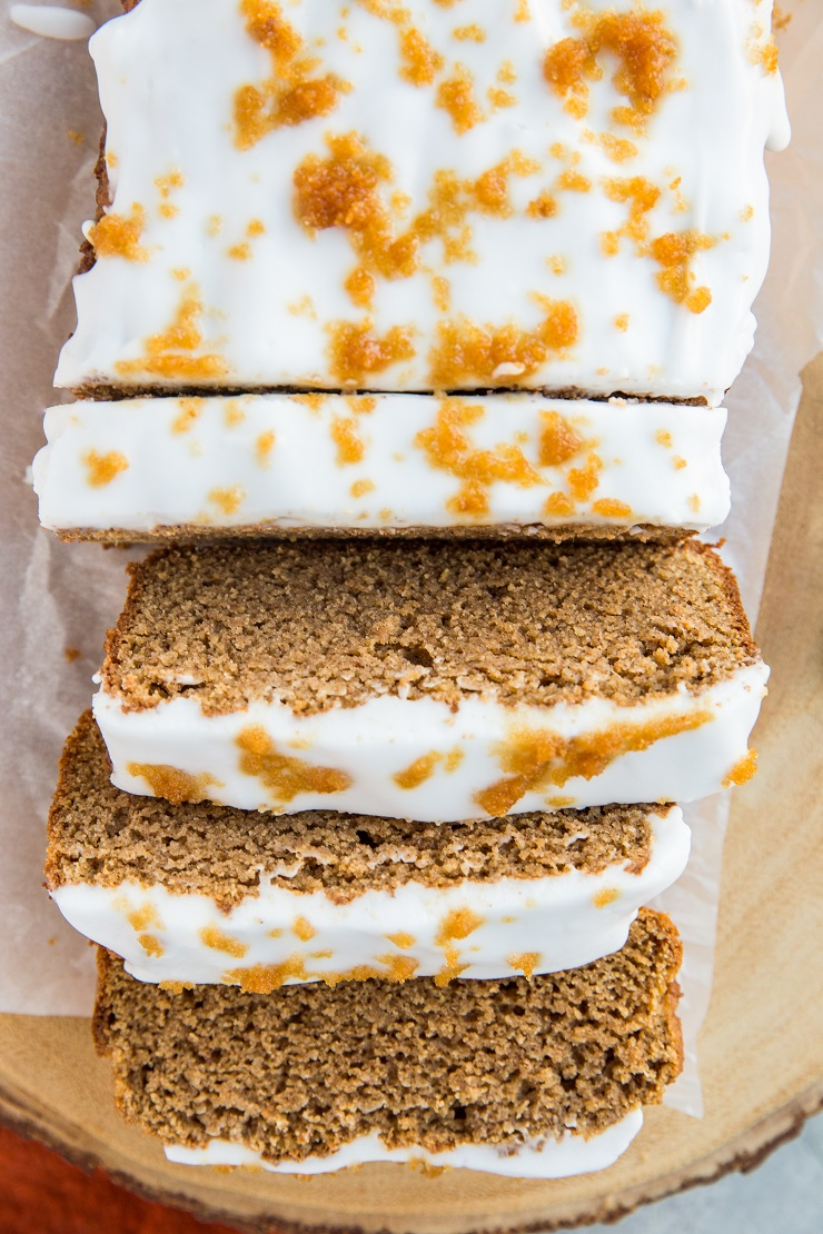 Sugar-Free Ginerbread Loaf - keto, dairy-free, grain-free healthy gingerbread loaf made with almond flour and coconut flour