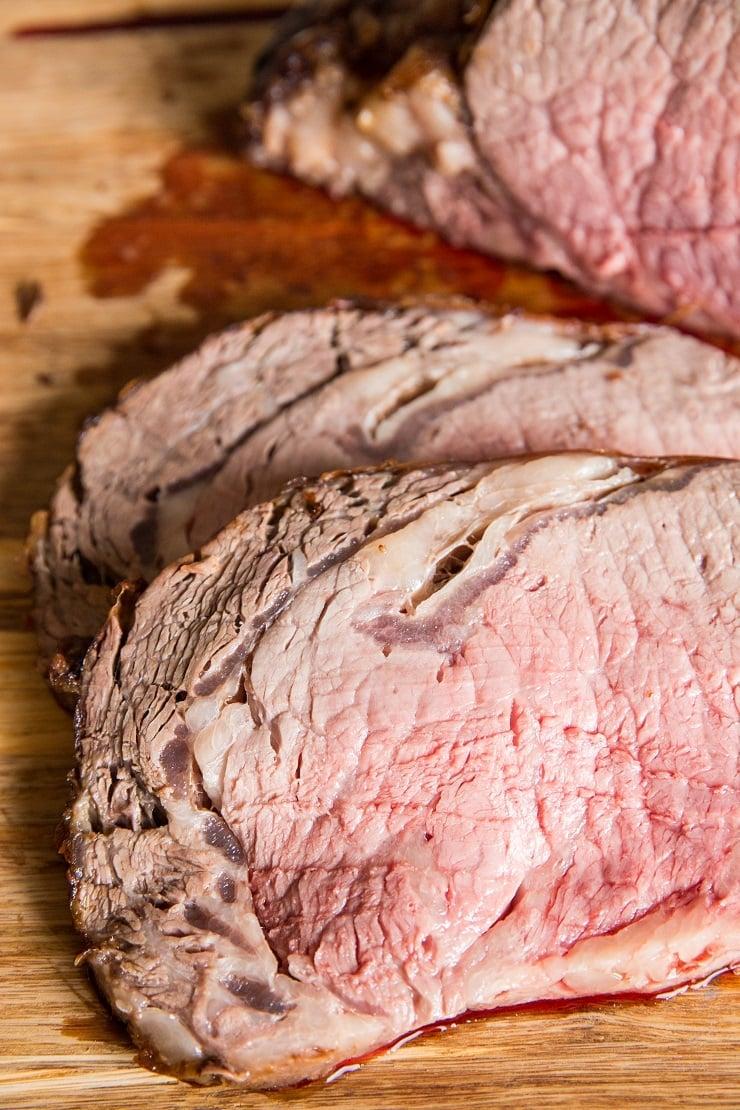 Ribeye Steaks from prime rib roast - oven baked standing rib roast