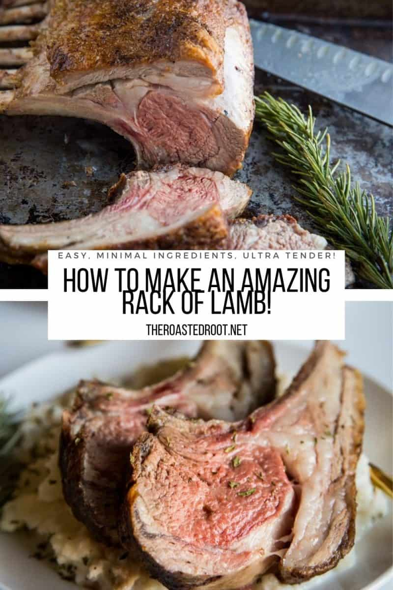 Rack of Lamb Recipe - how to make THE BEST rack of lamb with perfect crispy outside and tender inside! You'll never believe how easy it is to make rack of lamb!