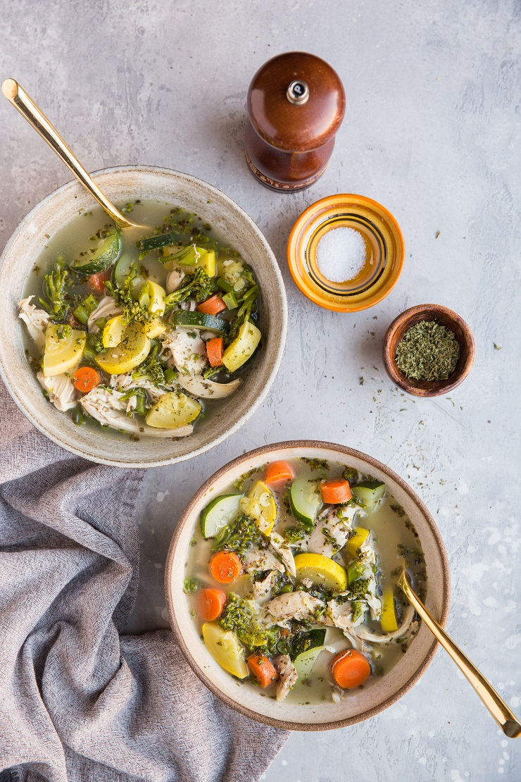 Rotisserie Chicken Soup with Vegetables - only a handful of ingredients are needed for this quick, easy, healthy dinner recipe