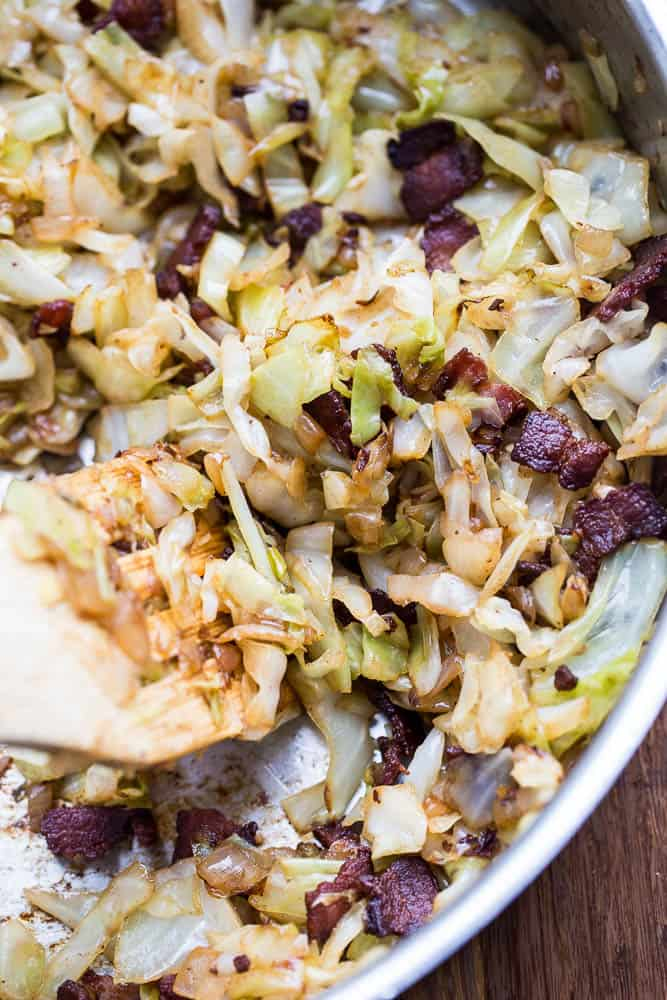 Caramelized Cabbage and Bacon