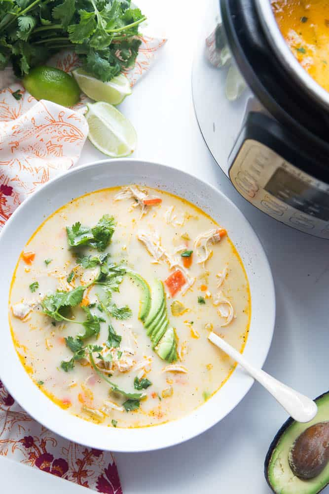 Instant Pot Creamy Southwest Chicken Soup