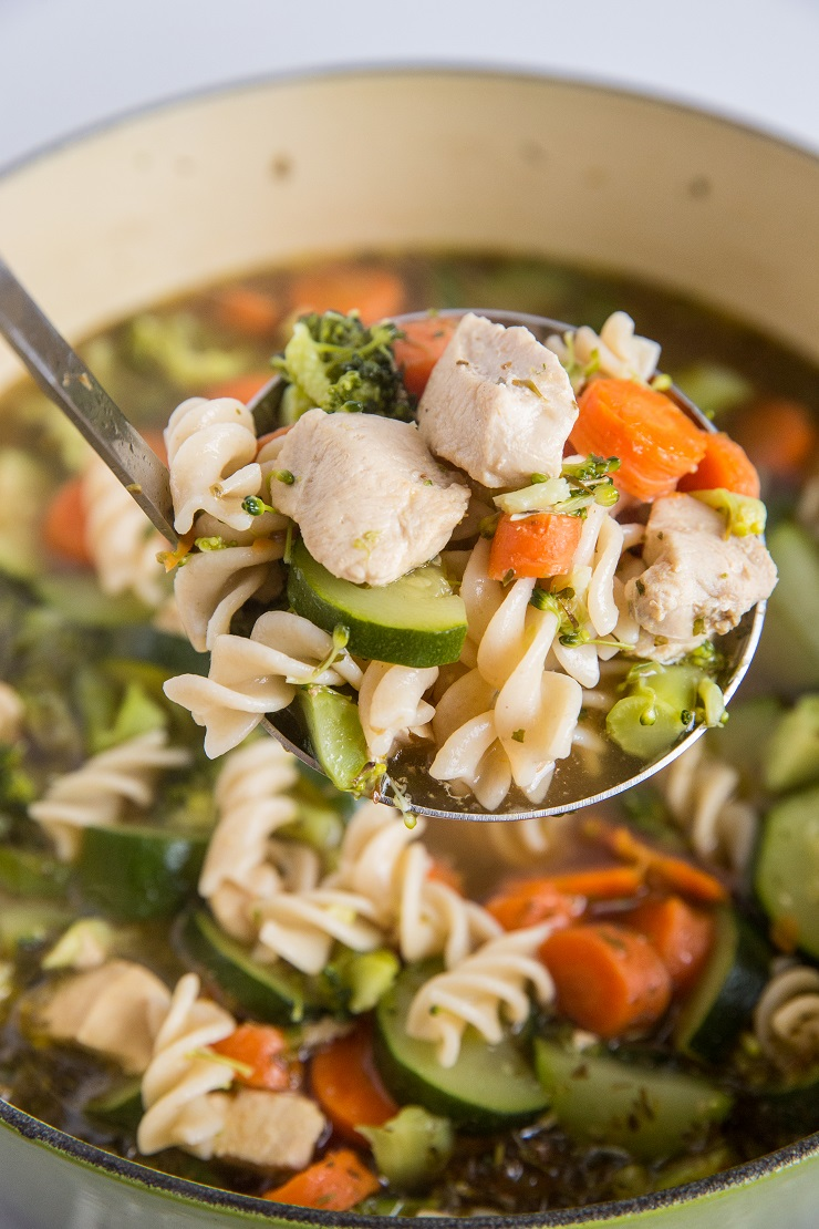 Easy One-Pot Chicken Noodle Soup made in 45 minutes