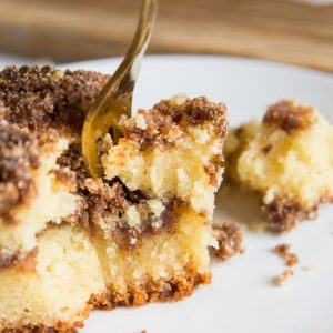 Dairy-Free Keto Coffee Cake made sugar-free and grain-free
