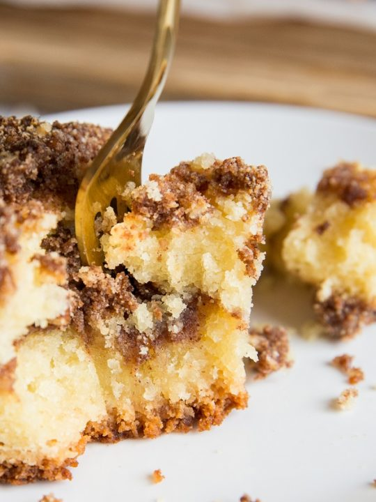 Dairy-Free Keto Coffee Cake made sugar-free and grain-free