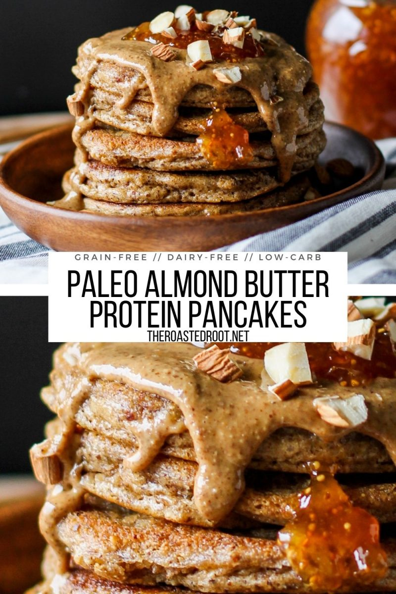 Keto Pancakes Recipe - paleo, grain-free, oil-free, dairy-free, fluffy moist pancakes loaded with protein