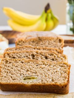Paleo Banana Bread - grain-free healthy banana bread recipe that is dairy-free, oil-free, and refined sugar-free.