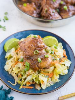Paleo Chicken Adobo - soy-free, refined sugar-free healthy adobo chicken recipe - a Filipino dish.