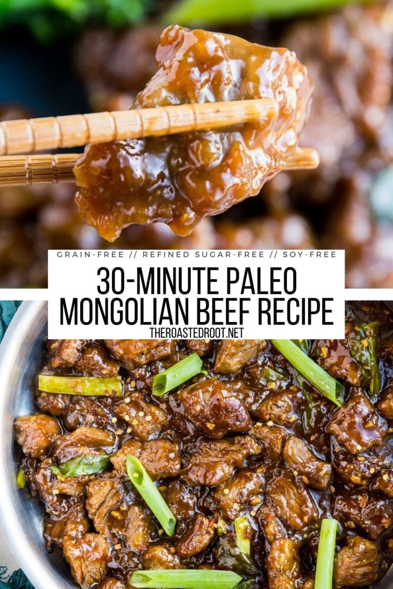Paleo Mongolian Beef Recipe - 30 minutes is all you need to make this amazingly flavorful dish! Soy-free, refined sugar-free, grain-free and absolutely delicious! Better than takeout!