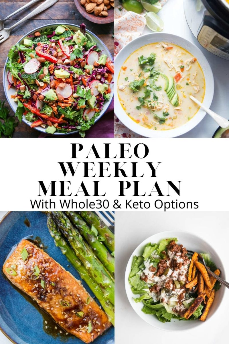 Healthy Paleo Meal Plan - Week 5 - an anti-inflammatory meal plan with six dinner recipes and one dessert