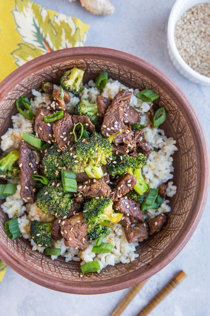 Sesame Ginger Garlic Broccoli Beef Stir Fry - a quick and easy healthy weeknight meal