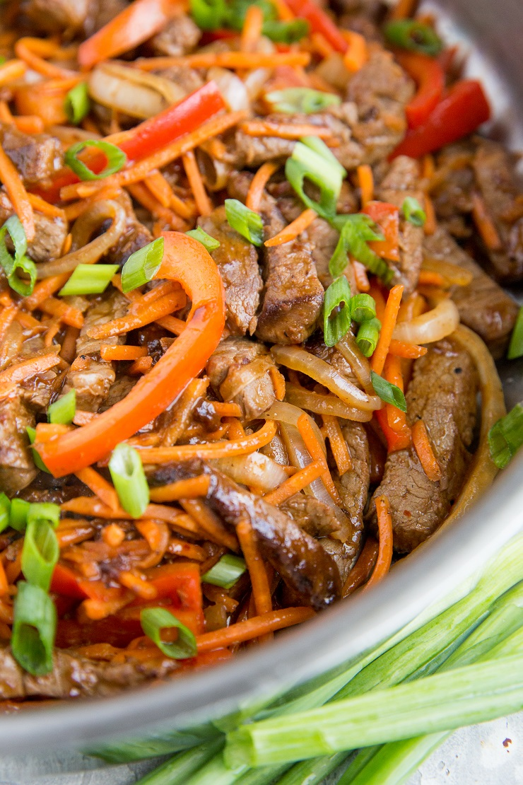 Delicious Healthy Szechuan Beef recipe - an easy recipe that is healthier than takeout