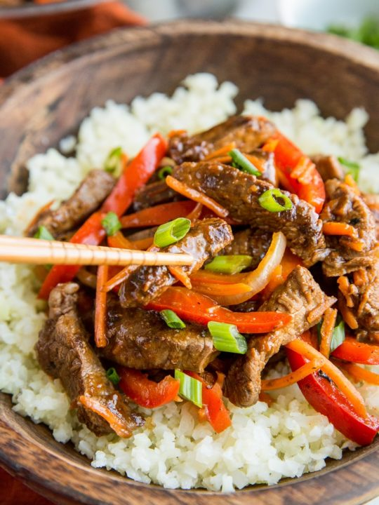 Delicious healthier Szechuan Beef tastes authentic and is fun to make! Challenge your sense of culinary adventure with this complexly flavored dish.