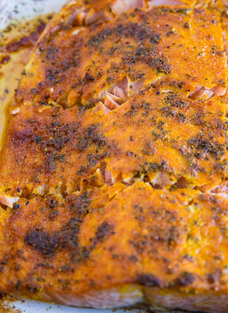 Turmeric Baked Salmon is loaded with health benefits. This anti-inflammatory meal is so easy to make!