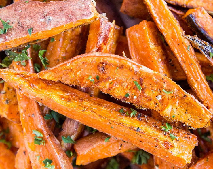 Baked Sweet Potato Fries - an easy recipe
