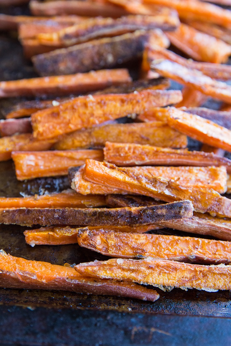 Baked sweet potato fries and air fryer sweet potato fries