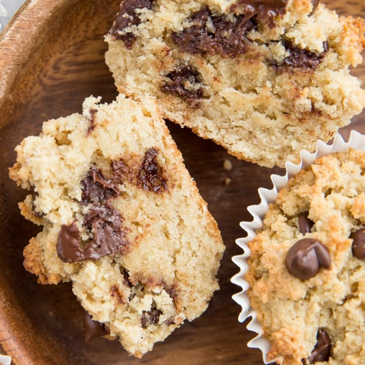 Keto Chocolate Chip Muffin Cookies - grain-free, sugar-free, low-carb and amazing! A thicker cookie or a denser muffin? Basically a dream treat.