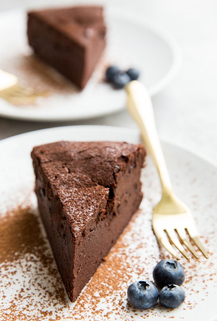 Flourless Keto Chocolate Cake Recipe made dairy-free, grain-free, and sugar-free! Rich, moist, amazing cake recipe!