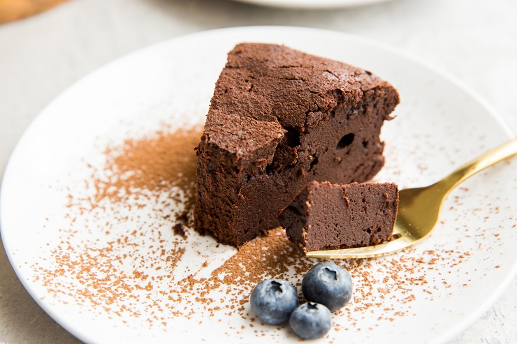 Keto Chocolate Cake recipe made dairy-free, grain-free, and flourless. Rich, moist, fudgy and delicious