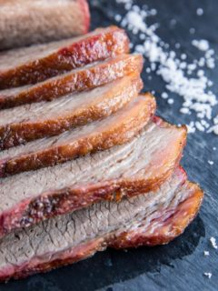 Smoked Brisket - an easy tutorial on how to smoke brisket, including tips and tricks for making the best smoked brisket