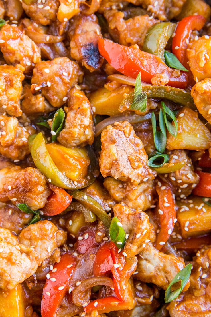 Healthy Sweet and Sour Pork recipe made in less than 45 minutes