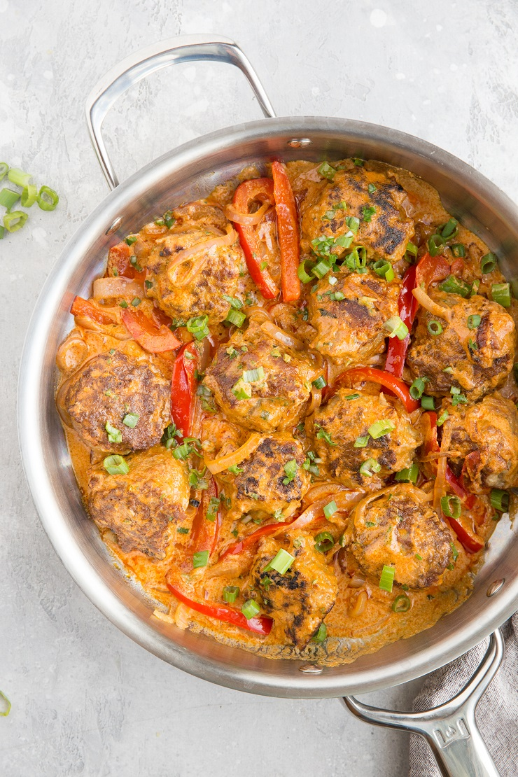 Turkey Meatball Curry - Thai red curry with meatballs makes for an amazing comforting meal
