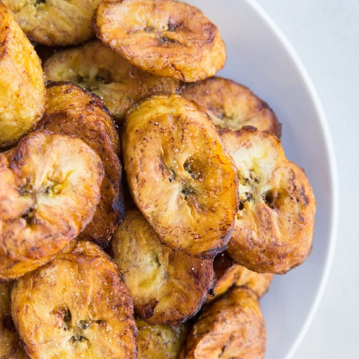 Fried Plantains - an easy tutorial on how to make fried plantains - how to pick perfect plantains for frying, how to cut plantains, and more!