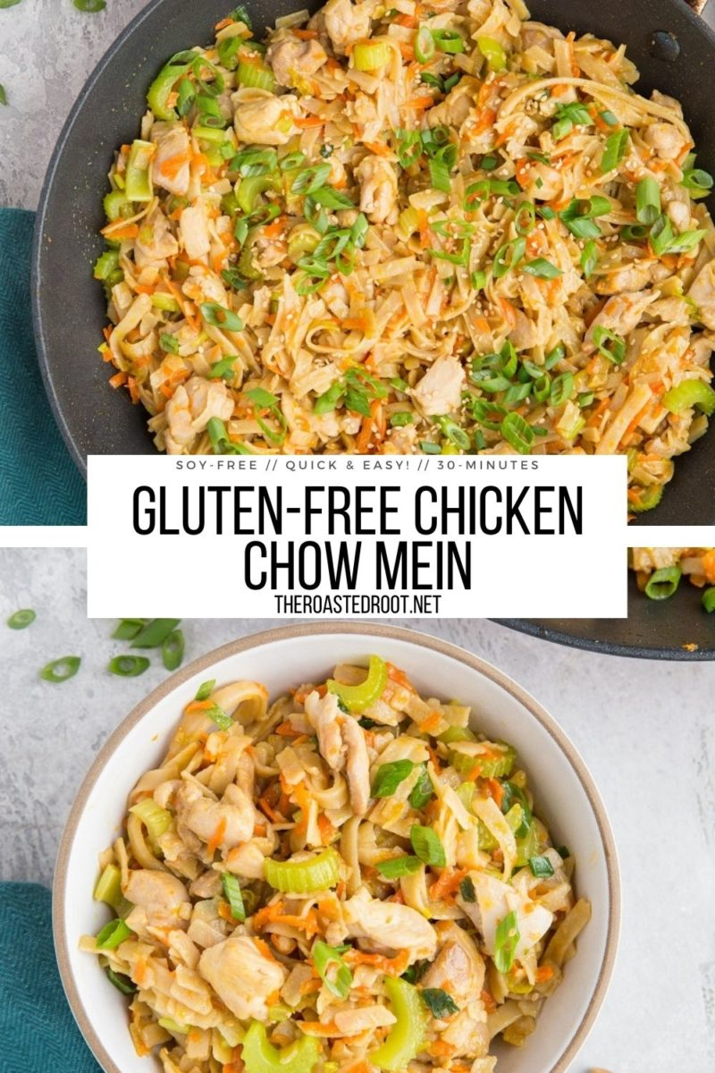 Quick & Easy Gluten-Free Chicken Chow Mein - a delicious healthier take on the classic Chinese takeout