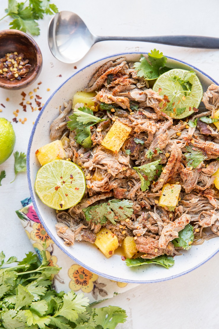 Instant Pot Shredded Pork with Pineapple - a delicious pulled pork recipe that results in amazingly tender meat.