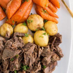 Instant Pot Pot Roast Recipe - an easy goof-proof method of cooking pot roast in the pressure cooker