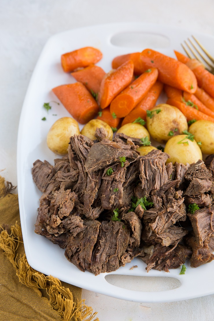 Pressure Cooker Pot Roast - an easy pot roast recipe made in the Instant Pot